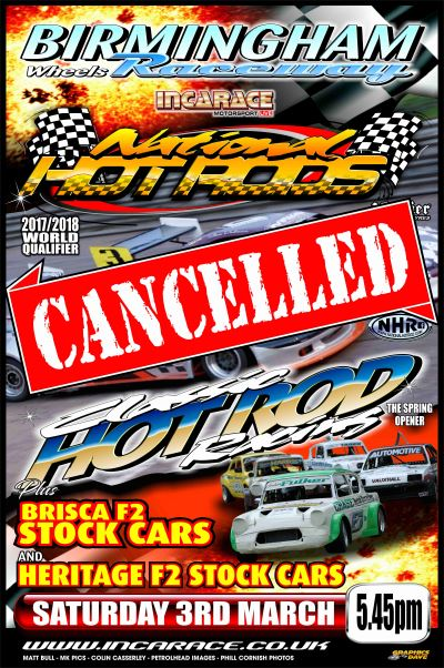 BIRMINGHAM 3rd march 2018 cancelled